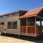 The Tumbleweed model P-576 by Platinum Cottages on display @ RRC Athens. This 15' wide park model features a king sized downstairs bedroom. Available with an optional front porch, loft, moveable island and more.