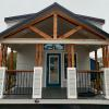The Tumbleweed P-576SLFP on display @ RRC Athens featuring our craftsman style front porch with cedar accents.