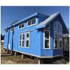 The Bayview model P537 by Platinum Cottages and on display at RRC Athens. Finished in beautiful Bright Cornflower Blue paint and shown with a double loft.